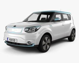 3D model of Kia Soul EV 2016