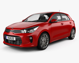 Kia Rio 5-door hatchback 2017 3D model