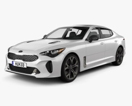 3D model of Kia Stinger GT 2017