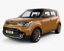 3D model of Kia Soul Turbo 2017