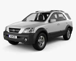 3D model of Kia Sorento EX 2002