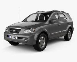 3D model of Kia Sorento EX US-spec 2002