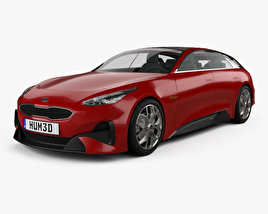 3D model of Kia Proceed 2017