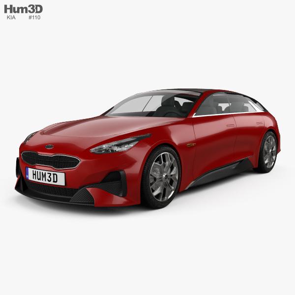 3D model of Kia Proceed 2017