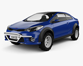 3D model of Kia Forte Koup Mud Bogger 2015