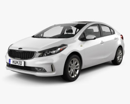 3D model of Kia K3 CN-spec sedan 2018
