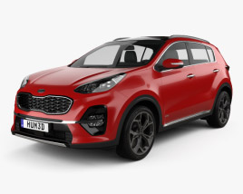 3D model of Kia Sportage GT-line 2018