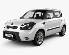3D model of Kia Soul with HQ interior 2009