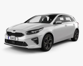 3D model of Kia Ceed hatchback 2018