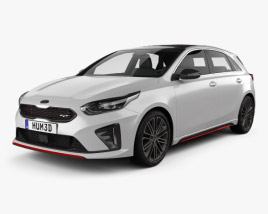 3D model of Kia Ceed GT hatchback 2018