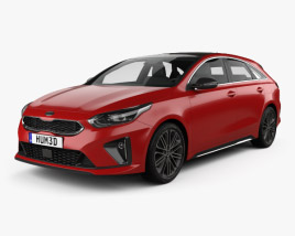 3D model of Kia Ceed Pro GT-Line 2019