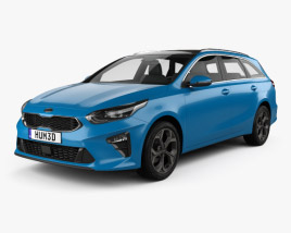 3D model of Kia Ceed sportswagon 2018