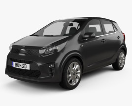 3D model of Kia Picanto Comfort Plus 2017
