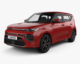 3D model of Kia Soul GT-Line Turbo 2019