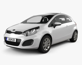 3D model of Kia Rio 3-door 2012