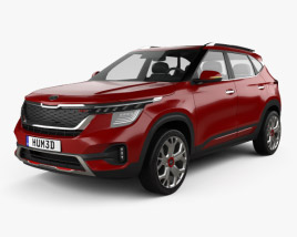 3D model of Kia Seltos GT-Line 2019