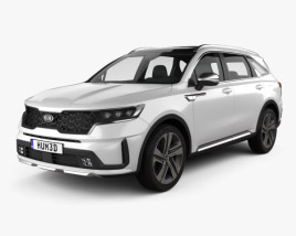 3D model of Kia Sorento EcoHybrid 2020