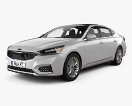 3D model of Kia Cadenza 2017