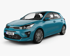 3D model of Kia Rio hatchback 2020