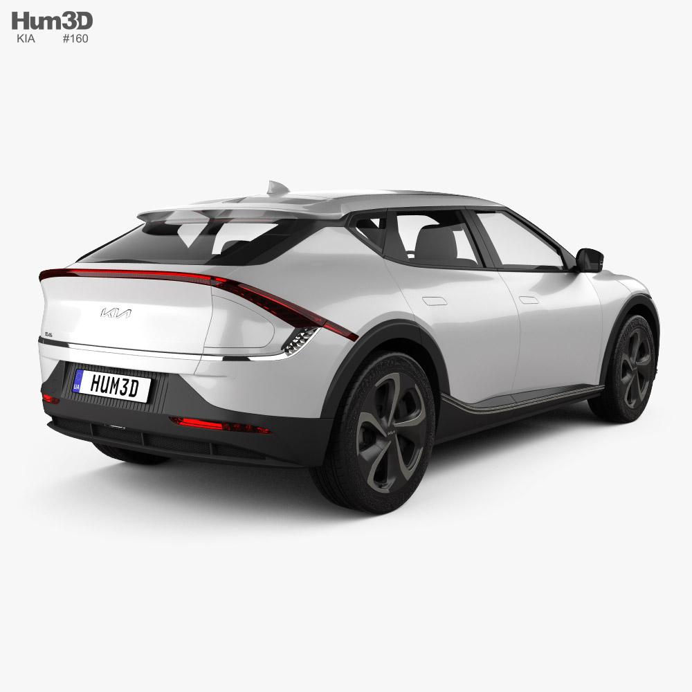 Kia EV6 2022 3d model back view