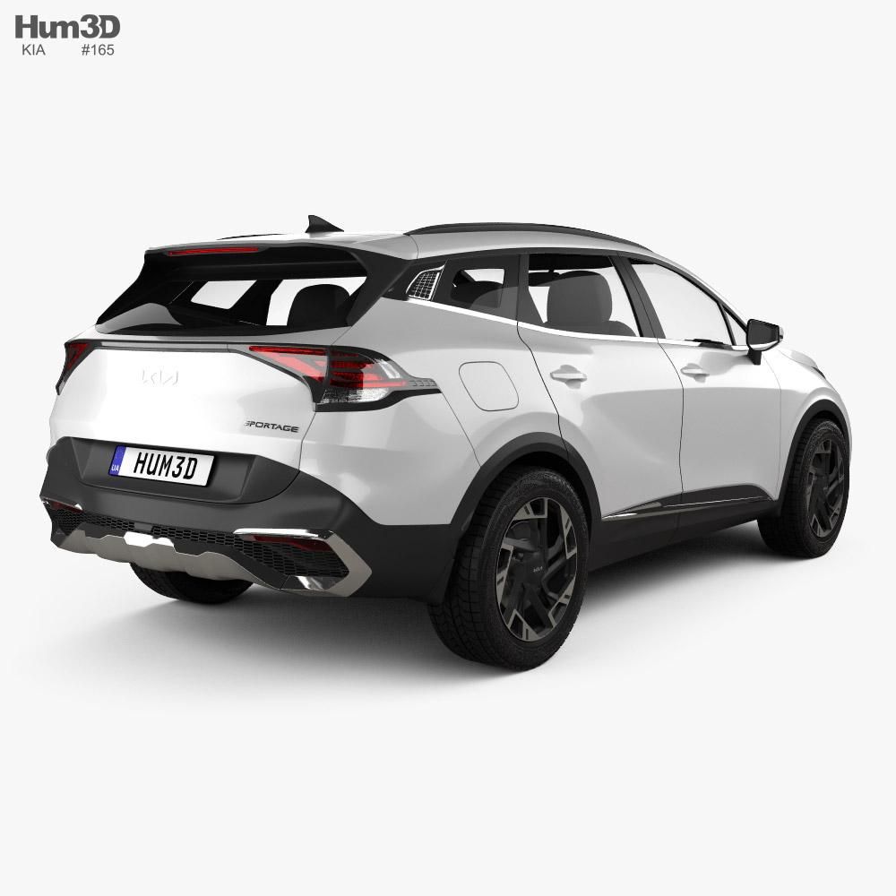 Kia Sportage 2022 3d model back view