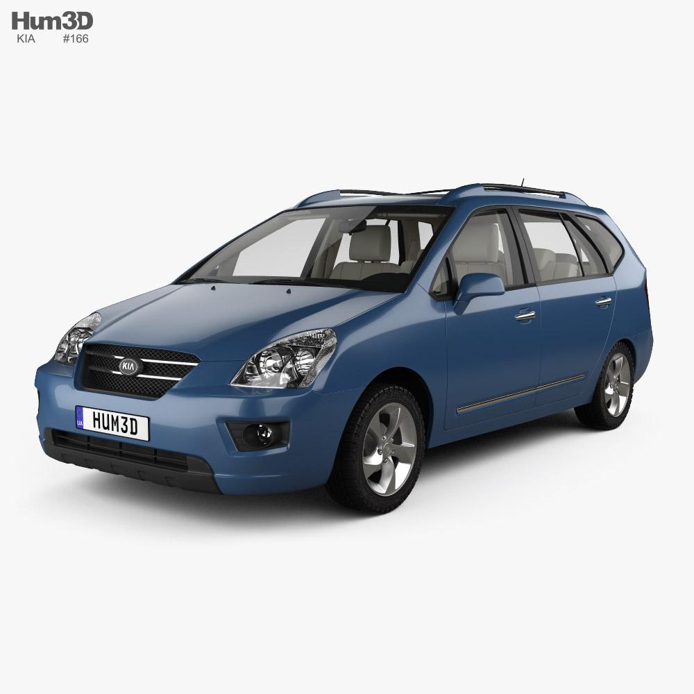 Kia Carens with HQ interior 2006 3D model
