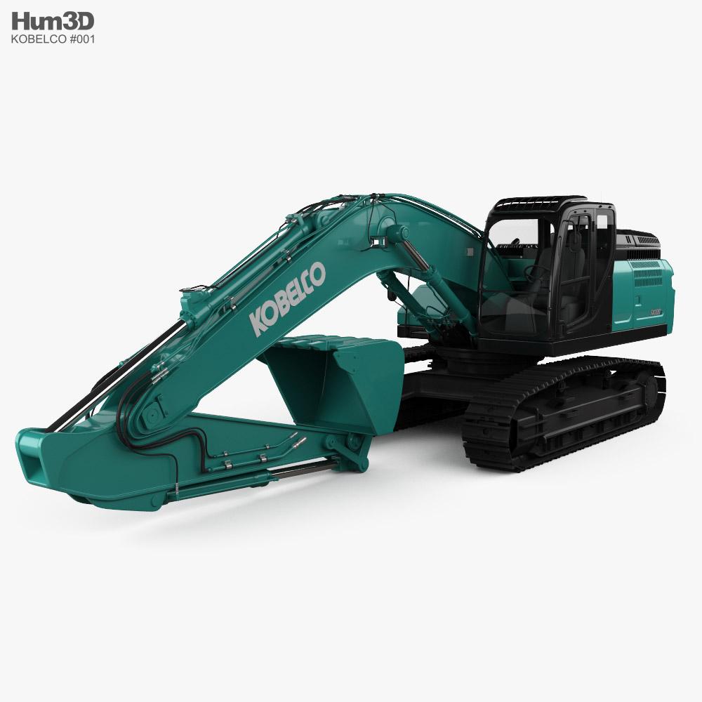Kobelco SK300LC Excavator 2020 3D model