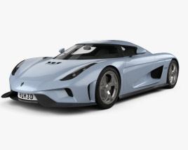 3D model of Koenigsegg Regera 2015