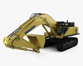 3D model of Komatsu PC850 Excavator 2015
