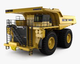 3D model of Komatsu 730E Dump Truck 2012
