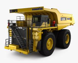 3D model of Komatsu 830E Dump Truck 2019