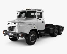 3D model of KrAZ 64431 Tractor Truck 1994