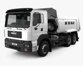 3D model of KrAZ C26.2M Tipper Truck 2013