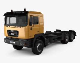 3D model of KrAZ H23.2M Chassis Truck 2011
