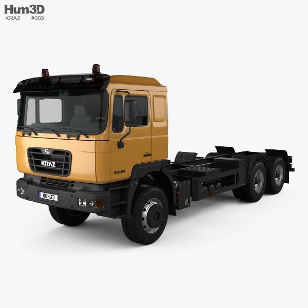 KrAZ H23.2M 底盘驾驶室卡车 2011 3D模型