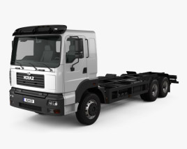 3D model of KrAZ 6511 Chassis Truck 2014