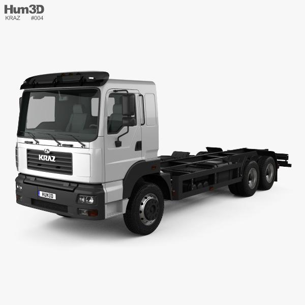 KrAZ 6511 底盘驾驶室卡车 2014 3D模型