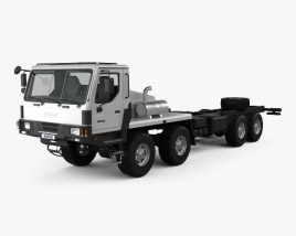 3D model of KrAZ 7634HE Chassis Truck 2014