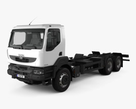 3D model of KrAZ H23.2R Chassis Truck 2011
