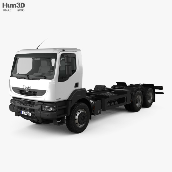 KrAZ H23.2R Chassis Truck 2011 3D model