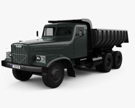 3D model of KrAZ 256B Dump Truck 1966