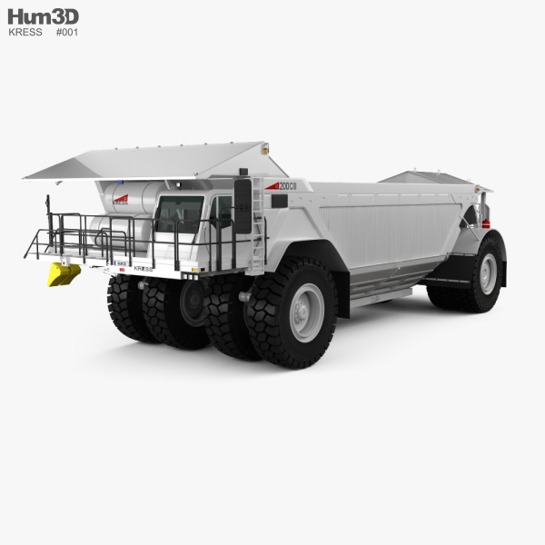 3D model of Kress 200CIII Coal Hauler 2019