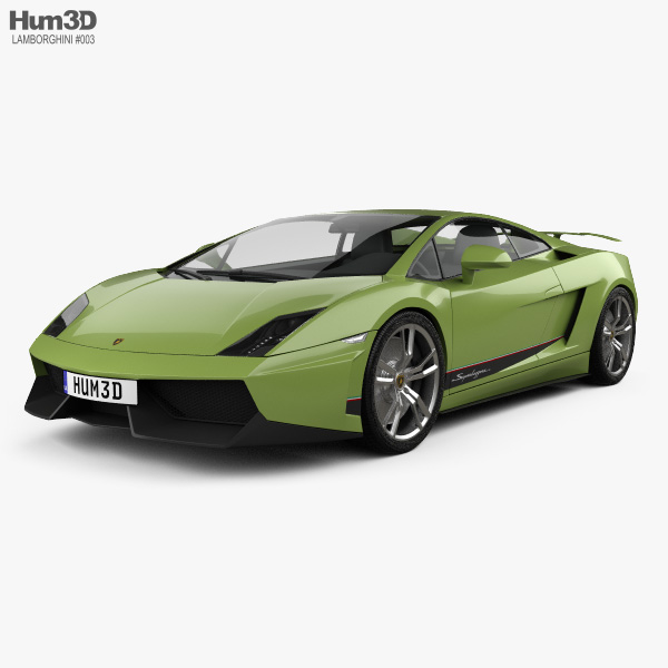 3D model of Lamborghini Gallardo LP570-4 Superleggera 2011