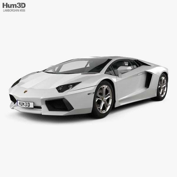 3D model of Lamborghini Aventador 2012