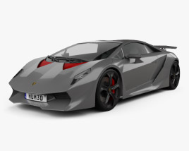 3D model of Lamborghini Sesto Elemento 2011
