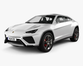 3D model of Lamborghini Urus 2012