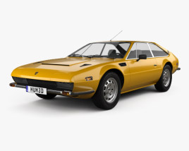 3D model of Lamborghini Jarama 400 GTS 1976