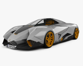 3D model of Lamborghini Egoista 2013