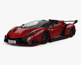 3D model of Lamborghini Veneno Roadster 2014