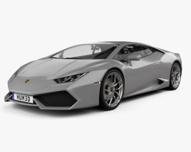 3D model of Lamborghini Huracan 2014